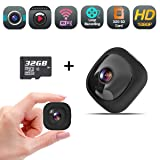 Mini Spy Hidden Camera, Wireless WiFi Full HD 1080P Nanny Cam, Security Camera Recorder with Audio, Wearable Action Cam with Clips Mount for Home and Office (32GB SD Card Included) (Tamaño: OnReal-G1SD)