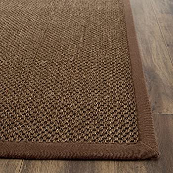 "Safavieh Natural Fiber Collection NF443D Tiger Eye Brown Sisal Runner (26"" x 6)"