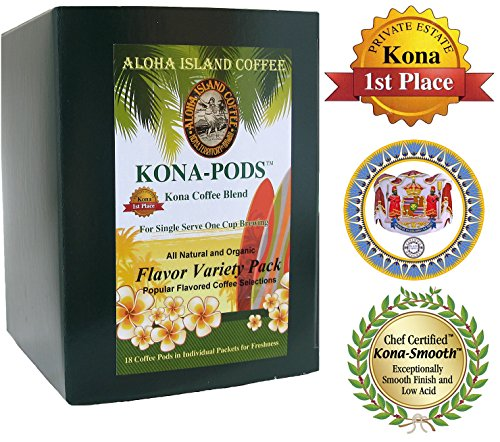 Senseo Pods, Variety Pack Of Six Flavors Of Kona Blend Coffee, 18 Pods, Reusable Pod Adapter Is Available For K-Cup Brewing