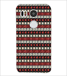 PrintDhaba Pattern D-5284 Back Case Cover for LG NEXUS 5X (Multi-Coloured)