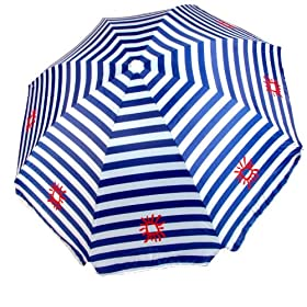 7.5 Foot Beach Umbrella with Tilt - Platinum Series Blue Cabana