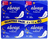 4x Always Ultra Night 6 Signs of Protection (4 x 10 = Total 40 Pads)