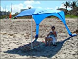 """Beach Umbrella with Sand Anchor, """"Beach Sail"""" – Wind Resistant, Large 64 Sq Ft of Sun-Shade, Portable Beach Canopy, Light Weight, Durable – Made in the USA – 1 Year Warranty, Outdoor Stuffs"""
