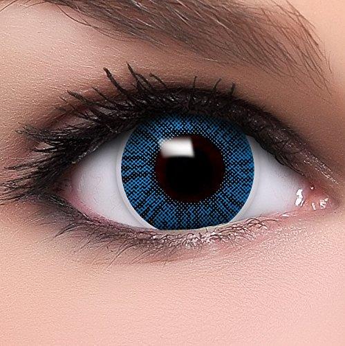 """Lenti a contatto colorate Intense """"Intense Sapphire"""" morbide, non corrette + 10ml di soluzione combinata, in confezione da due - prodotto a marchio di qualità superiore"""