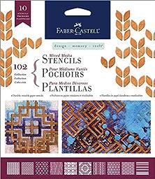 Faber Castell Design Memory Craft Mixed Media Paper Stencils- Classic