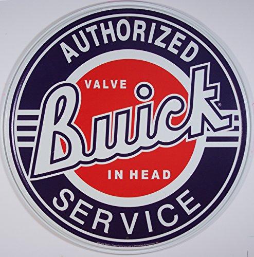 buick-plaque-publicitaire-metal-ronde-buick-authorized-service