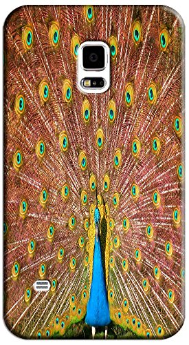 Beautiful Peacock Cell Phone Cases Design Special For Samsung Galaxy S5 I9600 No.3
