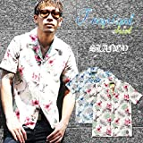 【SLANGY】 トロピカルシャツ ブルー レッド ホワイト 018621562
