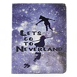 WONE Cartoon Cute PU Leather Flip Case with Cards Slots for Apple iPad MINI(Neverland)