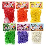 D.I.Y. Do it Yourself Bracelet Zupa Loomi Bandz 3600 Fruity Tooty Scented Rubber Bands with S Clips Set of 6