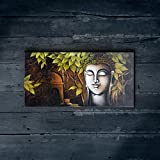 "Nish! 'Religious & Spiritual' Collection | Gutama Buddha Art On Wood | Wooden Wall Decor Hanging Painting (MDF Wood, 12""x6"", UV Cured, 1 Piece) For Living Room, Drawing Room, Temple, Home, Gift"