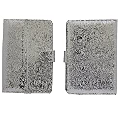 7&Seven G5 BLING FLIP FLAP CASE COVER POUCH CARRY STAND FOR Samsung Galaxy Tab 680 Case WHITE