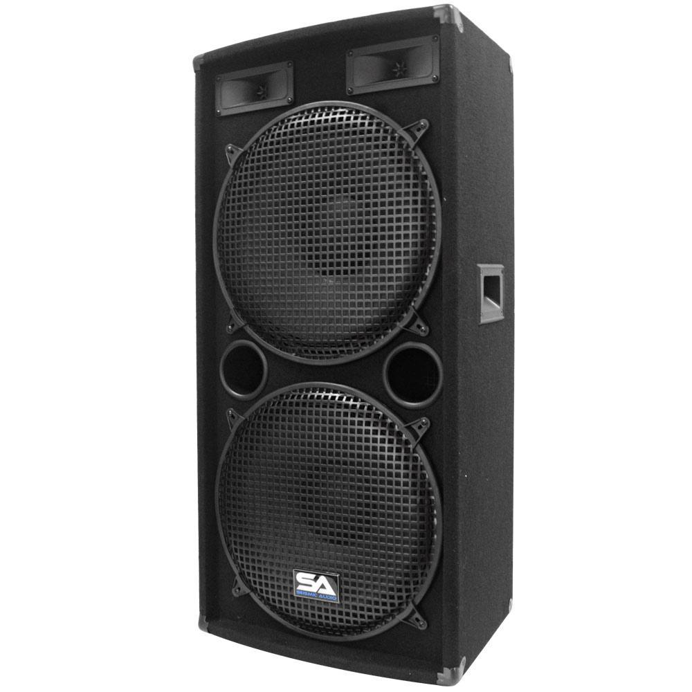 Seismic audio dual 15 inch pa dj speaker 500 for 15 inch floor speakers