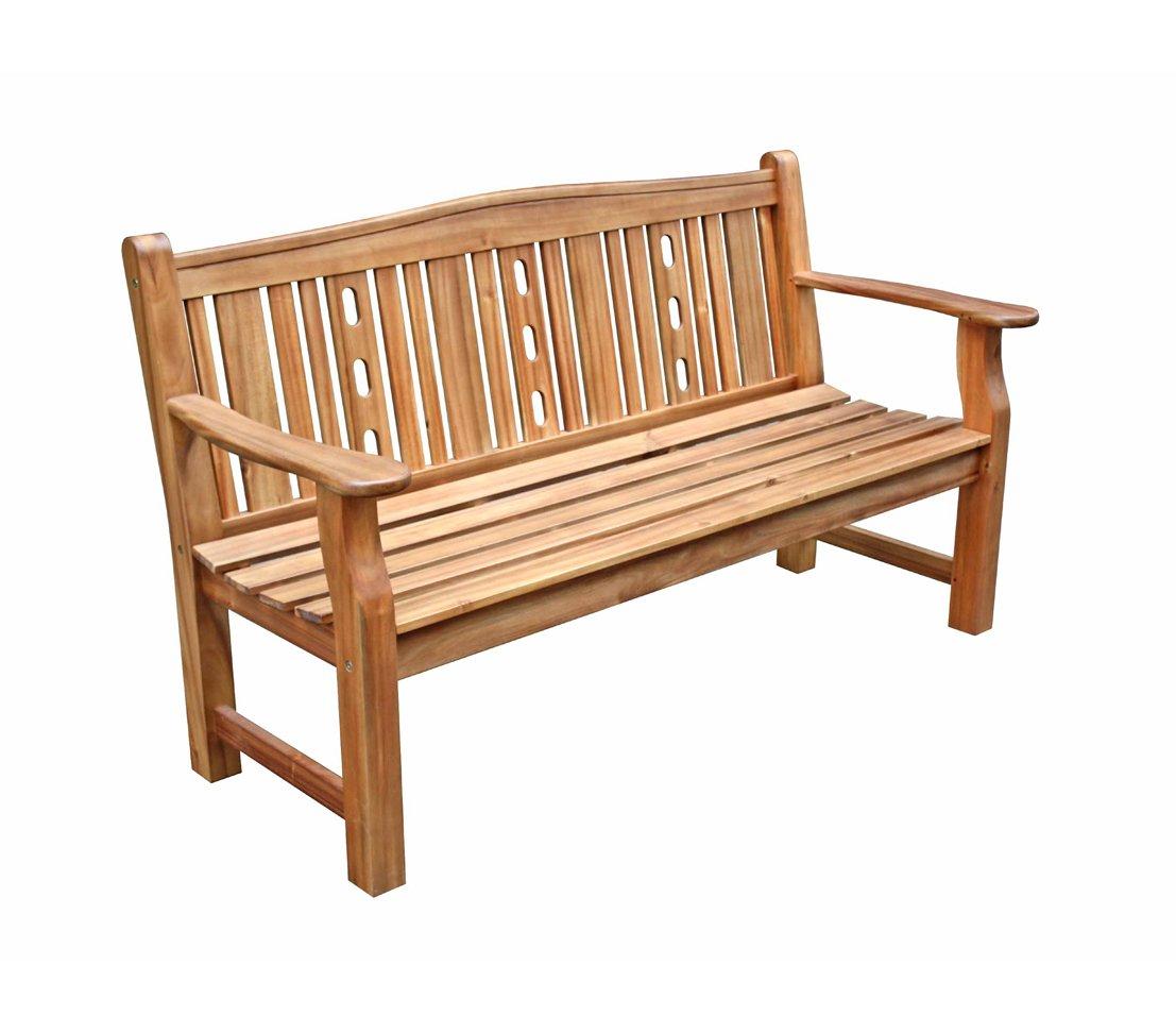 Dehner Gartenbank Bristol, 3-Sitzer, ca. 157 x 69 x 20 cm, FSC Akazienholz, natur online kaufen