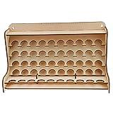 Jili Online Wooden Pigment Paint Bottle Rack Model Organizer Storage Stand Holder Tools (Color: Natural)