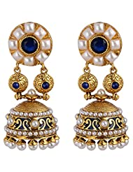 Agarwal Bentex Gold Plated Traditional Pearl Jhumki For Women