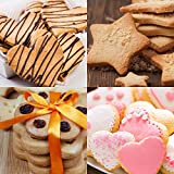 My Kitchen Mate Stainless Steel Cookie Cutter Set 4 Piece Mini Heart Flower Butterfly & Star Biscuit Cutters-Sandwich Cutter-Soft Grip-BONUS Recipe eBook Perfect For Any Occasion-Buy Yours Now!