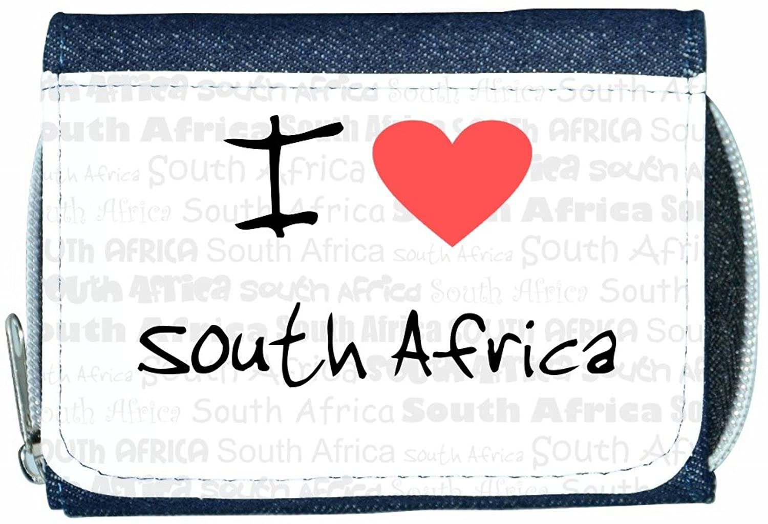 I Love Heart South Africa Denim Wallet