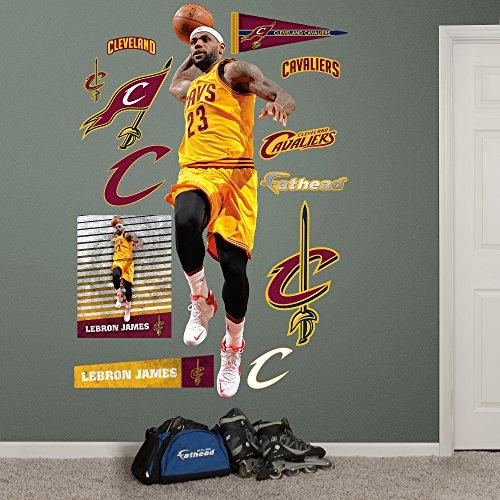 NBA Cleveland Cavaliers LeBron James Dunk Fathead Real Big Decals, 29