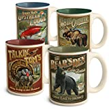 Set of Four American Expedition Vintage Ad Wildlife Coffee Mugs - Asst #2