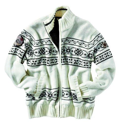 Northland Professional Joseph Knit-Giacca da uomo Bianco off-white/anthracite M