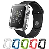 Silicone Alley, Apple Watch [42mm] Bumper Case [Series 1] / Perfect Match & Fit for Bands [Set of 5] (Band Not Included) (Color: 42mm - Series 1)