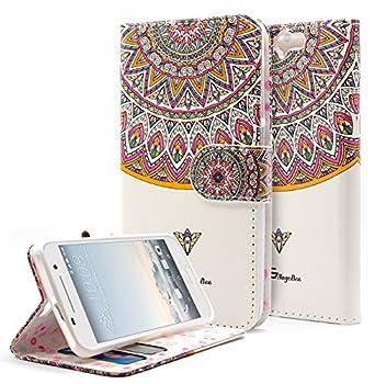 02. NageBee - Design Dual-Use Flip PU Leather Fold Wallet Pouch Case Premium PU Leather Wallet Flip Case