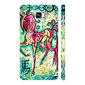 Enthopia Designer Hardshell Case CHINESE ZODIAC HORSE Back Cover for Samsung Galaxy A3 (2016)