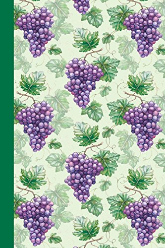 Journal Watercolor Purple Grapes (Green) 6x9 - LINED JOURNAL - Journal with lined pages - (Diary, Notebook) [Content, Premise] (Tapa Blanda)