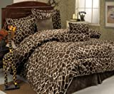 61NGwTzOs6L. SL160  5Pcs Twin Giraffe Animal Kingdom Bedding Comforter Set