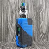CEOKS for Voopoo Drag 2 177W Silicone Case, Anti-Slip Protective Silicone Case Skin Rubber Cover for Voopoo Drag 2 177W TC Mod Box Rubber case wrap Shield (Black/Blue) (Color: Black/Blue)