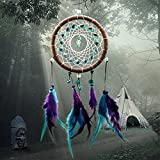 iDealhere DreamCatcher Traumfänger Feder Perlen Wand Hängen Dekoration Geschenke