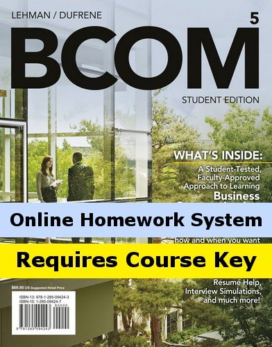 Aplia Online Homework System To Accompany Lehman/Dufrene'S Bcom [Instant Access]