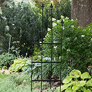 Border Concepts Border Concepts 7.25 ft. Turnberry Trellis - Black - 24W in., Metal