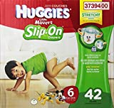 Huggies Little Movers Slip-On Diapers Big Pack, Size 6, 42 Count