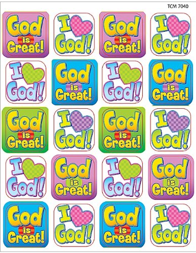 Teacher Created Resources God is Great Stickers, Multi Color (7040)