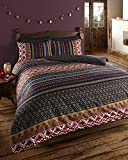 ETHNIC INDIAN PRINT BEDDING - QUILT COVER BED SET WITH PILLOW CASES (superking)