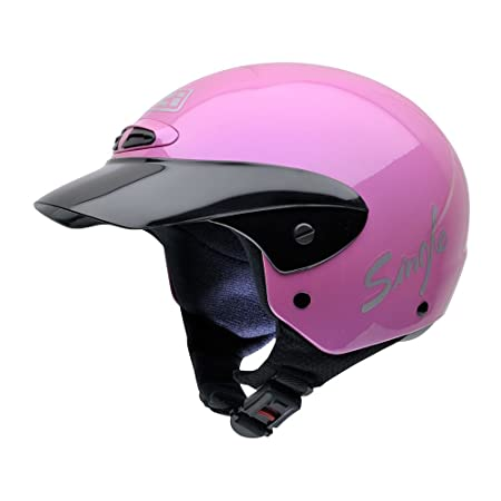 NZI 050216G203 Single Jr II Metal MRS Casque de Moto, Rose, Taille : S