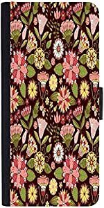 Snoogg Abstract Floral Background Designer Protective Phone Flip Case Cover For Desire 620G Dual Sim