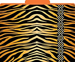 Barker Creek - Office Products Tiger Decorative File Folders, Letter, 1/3 Tabbed (LL-1321)