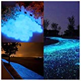 Glow in the Dark Garden Pebbles Stone for Walkway Yard and Decor DIY Decorative Gravel Stones in Blue(100PCS) (Color: Blue, Tamaño: 100PCS)