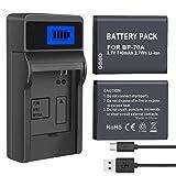 PALO 2-Pack of BP-70A, BP70A Batteries and Battery Charger for Samsung DV150F, ES65, ES70, ES80, MV800, PL120, PL170, PL20, PL200, PL80, SL50, SL600, SL605, SL630, ST65, ST66, ST76, ST80, ST90, ST95 (Tamaño: Samsung Batteries)
