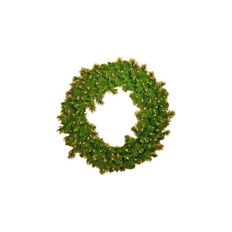 Good Tidings ED 416 24 Artificial Eddington Spruce Prelit Christmas Wreath 24 Inches Wide with Clear Lights