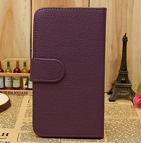Mylife (Tm) Eggplant Purple {Classic Design} Faux Leather (Card, Cash And Id Holder + Magnetic Closing) Slim Wallet For The All-New Htc One M8 Android Smartphone - Aka, 2Nd Gen Htc One (External Textured Synthetic Leather With Magnetic Clip + Internal Sec