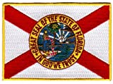 Florida State Flag Embroidered Patch Iron-On FL Emblem at Amazon.com