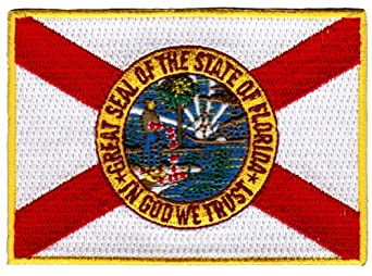 Florida State Flag Embroidered Patch Iron-On FL Emblem