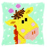 Vervaco Cross Stitch Cushion Baby Giraffe I
