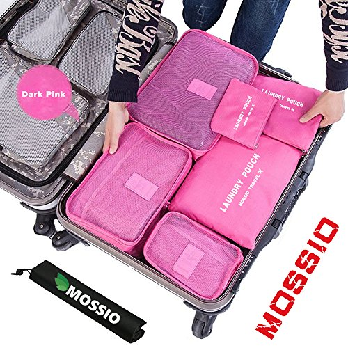 travel-bagmossio-7pcs-luggage-pouch-durable-compact-trip-gears-dark-pink