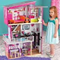 Doll House KidKraft Luxury Wooden Furniture Girls Dollhouse. Accommodates Dolls Of Up To 30cm (will fit Barbies) + 14 Pieces of Doll Furniture (+3 Years)