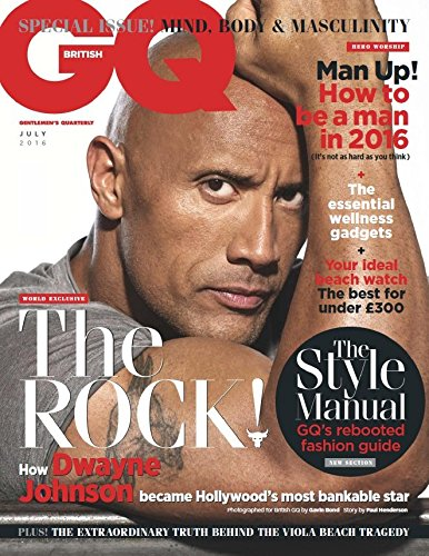 British GQ UK Magazine (July, 2016) Dwayne Johnson The Rock Cover (British Gq compare prices)